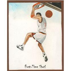 Dunk It Personalized Basketball Art Print