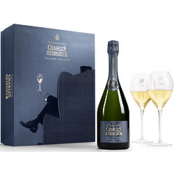 Charles Heidsieck Brut Reserve Coffret with Flutes