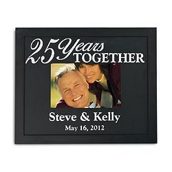 Personalized Years Together Wood Frame