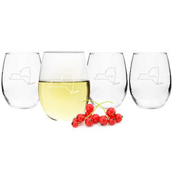 Home State Stemless Wine Glasses