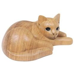 Marmalade Tabby Wood Sculpture