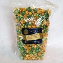 Green and Gold Family Sized Gourmet Popcorn Bag