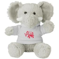 "6"" White Elephant Stuffed Animal in Red Elephant Tee"