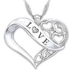 Love Diamond Heart Pendant for Granddaughter