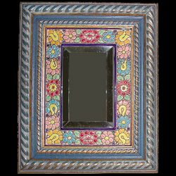 Handmade Spanish Mirror with Wood Frame