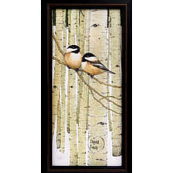 Personalized Love Birds Framed Canvas Print