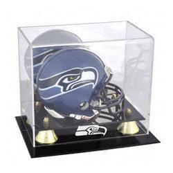 Seattle Seahawks Golden Classic Mini Helmet Display Case