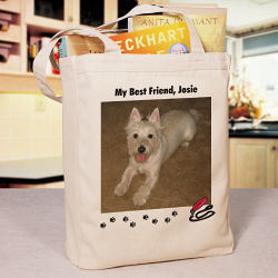 My Best Friend Personalized Dog Photo Tote Bag