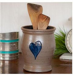 1.5 Quart Stoneware Utensil Jar