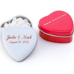 Personalized Sweet Heart Mint Tins