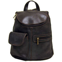 Distressed Leather Women's Backpack Purse
