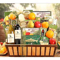 Fresh Fruit and Edenbrook Vineyards Selection Wine Basket