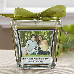 Papaya and Bamboo Scented Candle with Custom Photo