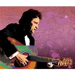 Johnny Cash Pop Art Print