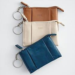 Leather Card Case with Key Ring