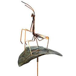 Praying Mantis Sculpture Garden Stake