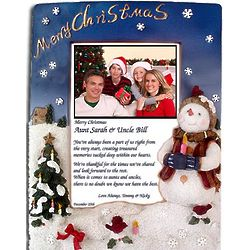 Aunt and Uncle Christmas Poetry Frame
