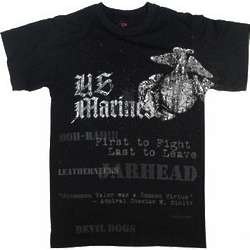 Vintage Black Marines EGA T-shirt