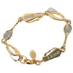 Two Tone Tennis Memorabilia Bracelet