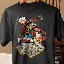 Personalized Marvel Comics Superhero Black T-Shirt