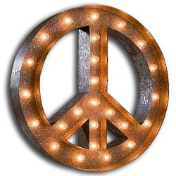 Californication Vintage Peace Symbol Marquee Light