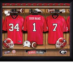 Personalized Georgia Bulldog Football Locker Room Print