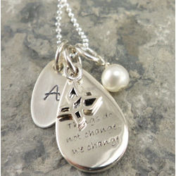 Things Do Not Change We Change Personalized Hand Stamped Necklace
