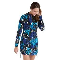 Women's Ruche Plus Size UPF Swim Shirt