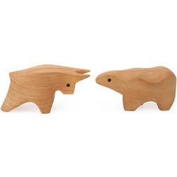 Bull or Bear Wooden Box