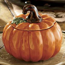 Pumpkin Bowls with Lids