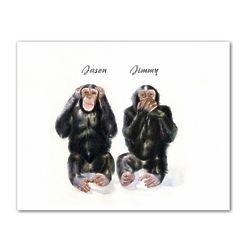 Monkey See Monkey Do Personalized Art Print