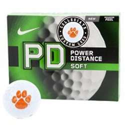 Clemson Tigers Power Distance Soft Collegiate Golf Balls