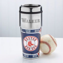 Personalized Boston Red Sox Travel Mug
