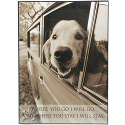 Where You Go I Will Go Bible Verse and Dog Plaque