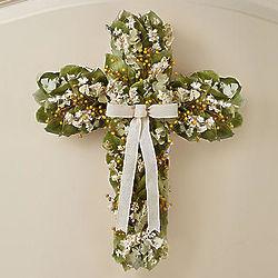Preserved Cross Wreath