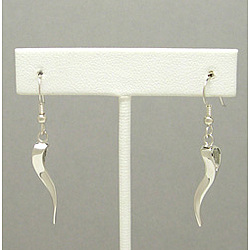 Sinuous Silver Ogee Twist Earrings