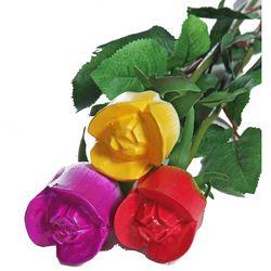 One Dozen Just Wood Roses