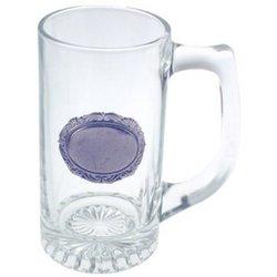 Engraved 13oz Medallion Beer Mug