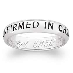 Confirmed in Christ Engraved Sterling Silver Band