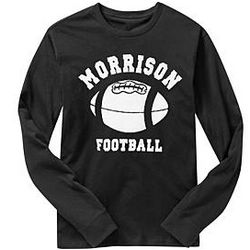 Personalized Sports Adult Long Sleeve T-shirts