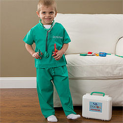 Kids Personalized Doctors Scrubs Costume