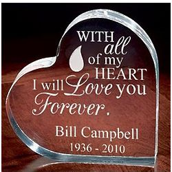 Personalized Memorial Heart with Teardrop