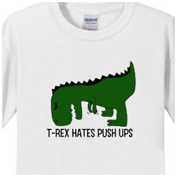 T-Rex Hates Pushups Kids T-shirt