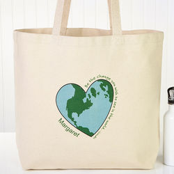 Personalized Go Green Large Reusable Shopping Bag