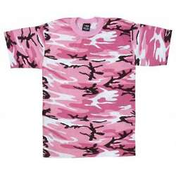 Adult Women's Pink Camo T-Shirt