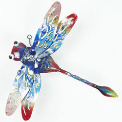 Painted Dragonfly Wall Sculpture