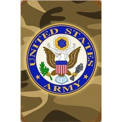Army Camo Metal Sign