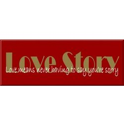 Love Story Movie Sign