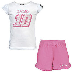Danica Patrick #10 Girl's Toddler Pink Power Short Set