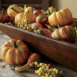 Faux Fall Gourds and Pumpkins